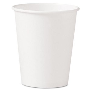 Polycoated Hot Paper Cups, 10 oz, White