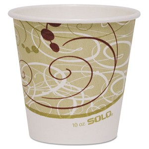 Polycoated Hot Paper Cups, 10 oz, Symphony Design, 1000/Carton