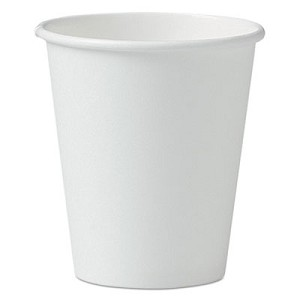 Single-Sided Poly Paper Hot Cups, 6oz, White, 50/Pack, 20 Packs/Carton