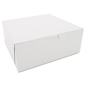 Bakery Boxes, White, Kraft, 10W x 10D x 4H