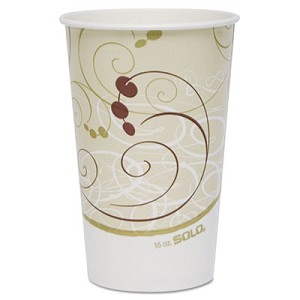 Paper Cold Cups, 16 oz., Symphony Design, 50/Bag