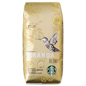 VERANDA BLEND Coffee, Light Roast, Whole Bean, 1 lb Bag