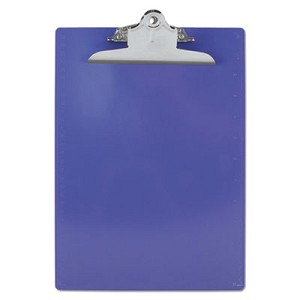 "Recycled Plastic Clipboard w/Ruler Edge, 1"" Clip Cap, 8 1/2 x 12 Sheets, Purple"