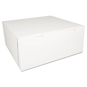 Bakery Boxes, White, Paperboard,14 x 14 x 6, 50/Carton