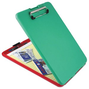 "SlimMate Show2Know Safety Organizer, 1/2"" Clip Cap, 9 x 11 3/4 Sheets, Red/Green"