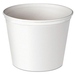 Double Wrapped Paper Bucket, Unwaxed, 53 oz, White, 50/Pack