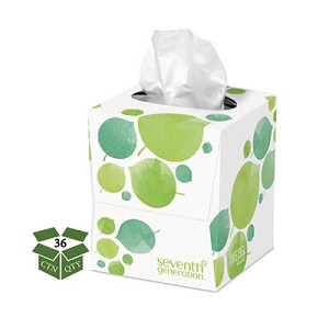 100% Recycled Facial Tissue, 2-Ply, 85 Sheets/Box, 36 Boxes/Carton