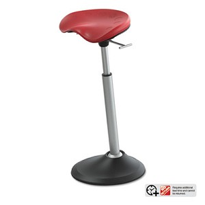 Mobis II Seat by Focal Upright, Red Seat, Red Back, Black Base