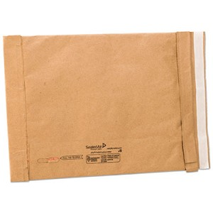 Jiffy Padded Mailer, #5, Paper Lining, Self-Adhesive Closure, 10.5 x 16, Natural Kraft, 25/Carton