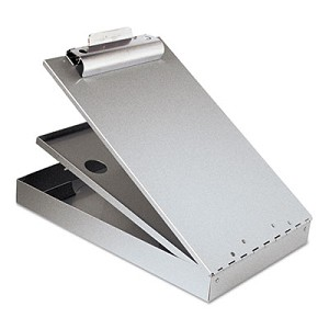 Cruiser Mate Aluminum Storage Clipboard, 1.5  , Clip Cap, 8.5 x 12 Sheets, Silver