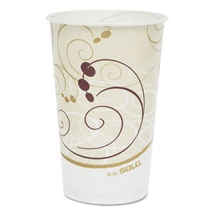 Symphony Treated-Paper Cold Cups, 16oz, White/Beige/Red, 50/Bag, 20 Bags/Carton
