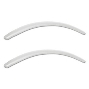 Alera Neratoli Series Replacement Arm Pads, Leather, 1.77w x .59d x 15.15h, White, 1 Pair