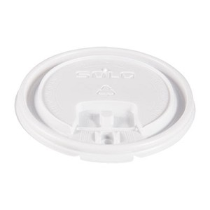 Lift Back and Lock Tab Cup Lids, for 10oz Cups, White, 100/Sleeve, 20 Sleeves/CT