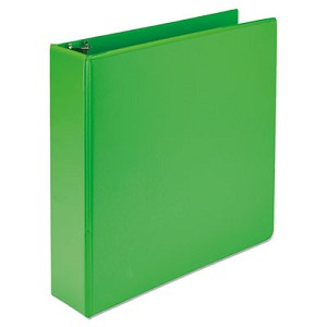 Earth?s Choice Biobased Durable Fashion View Binder, 3 Rings, 2  , Capacity, 11 x 8.5, Lime, 2/Pack