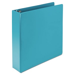 "Earth?s Choice Biobased Durable Fashion View Binder, 3 Rings, 2"" Capacity, 11 x 8.5, Turquoise, 2/Pack"