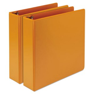 "Earth?s Choice Biobased Durable Fashion View Binder, 3 Rings, 2"" Capacity, 11 x 8.5, Coral, 2/Pack"