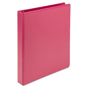 "Earth?s Choice Biobased Durable Fashion View Binder, 3 Rings, 1"" Capacity, 11 x 8.5, Berry, 2/Pack"