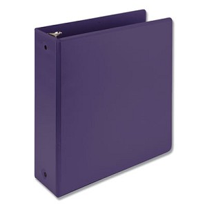 "Earth's Choice Biobased Economy Round Ring View Binders, 3 Rings, 3"" Capacity, 11 x 8.5, Purple"
