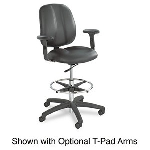 "Apprentice II Extended-Height Chair, 32"" Seat Height, Supports up to 250 lbs., Black Seat/Black Back, Black Base"