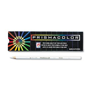 Premier Colored Pencil, 3 mm, 2B (#1), White Lead, White Barrel, Dozen