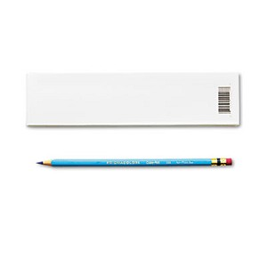 Col-Erase Pencil with Eraser, 0.7 mm, 2B (#1), Non-Photo Blue Lead, Non-Photo Blue Barrel, Dozen
