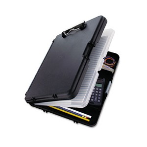 "WorkMate II Storage Clipboard, 1/2"" Capacity, Holds 8-1/2w x 12h, Black/Charcoal"