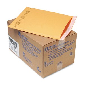 Jiffylite Self-Seal Bubble Mailer, #4, Barrier Bubble Lining, Self-Adhesive Closure, 9.5 x 14.5, Golden Kraft, 25/Carton