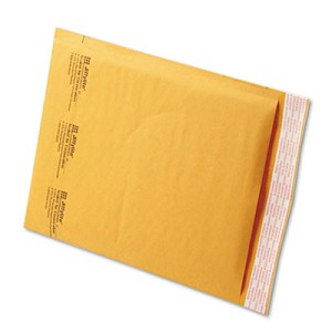 Jiffylite Self-Seal Bubble Mailer, #2, Barrier Bubble Lining, Self-Adhesive Closure, 8.5 x 12, Golden Brown Kraft, 100/Carton